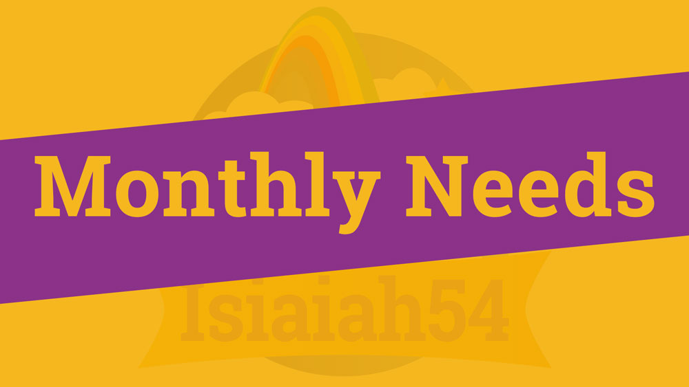 Monthly Needs